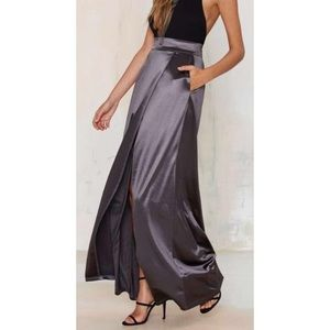 Twin Sister Sleekin' Out maxi skirt by Nasty Gal